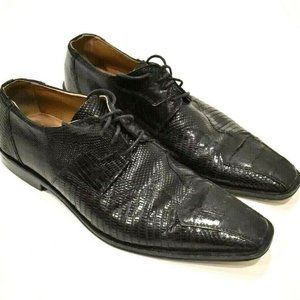 David Eden CROCODILE ALLIGATOR LEATHER Black SHOES